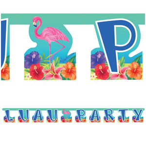 Hibiscus Luau Letter Banner