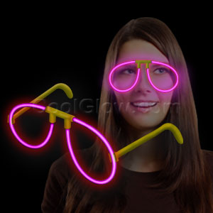 Glow Eye Glasses - Pink