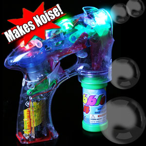 LED 7 Inch Bubble Gun - Noisemaker