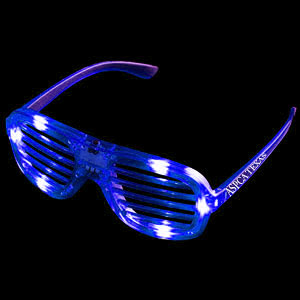 LED Slotted Shades - Blue