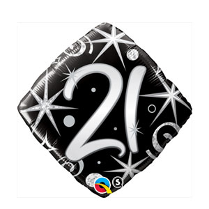 21 Elegant Sparkles and Swirls Balloon- 18in
