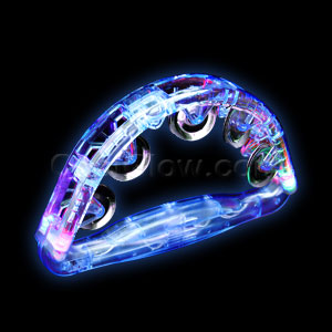 LED Tambourine 8 Inch - Blue