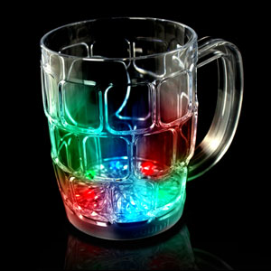 LED Flashing Beer Mug - 16 oz. - 21st Birthday Party Stuff