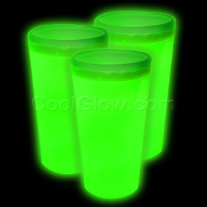 Glow Cup - Green - 21st Birthday Party Stuff