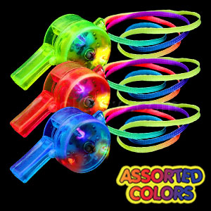 LED Drum Whistle - Assorted