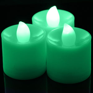 LED Tea Light Candles Green
