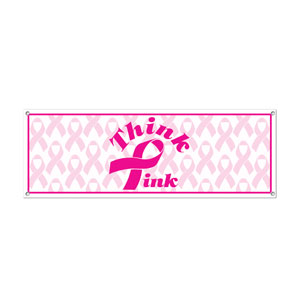 Pink Ribbon Sign Banner - 5ft