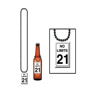 No Limits 21st Birthday Beads - 21st Birthday Gifts For Him