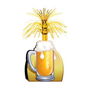 Beer Mug Centerpiece - 15in - 21st Birthday Decorations