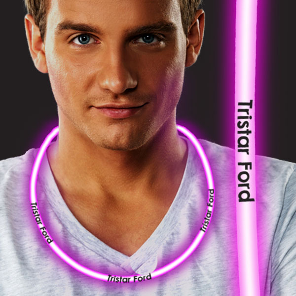 22 Inch Glow Necklaces - Pink