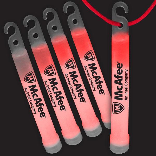 4 Inch Premium Glow Sticks - Red