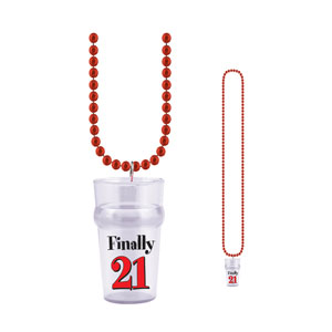Finally 21 Shot Glass Beads - 21st Birthday Decorations