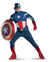 The Avengers Captain America Elite Adult Plus Costume - 21st Birthday Fancy Dress