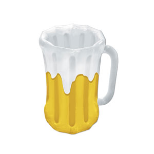 Inflatable Beer Mug Cooler - 18n x 27in - 21st Birthday Party Stuff