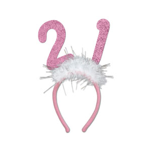 21 Glittered Boppers - Pink - 21st Birthday Gifts For Her