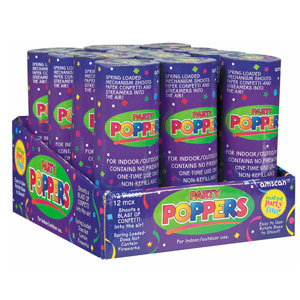 Confetti Poppers- 12ct - 21st Birthday Party Stuff