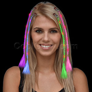 LED Braided Hair Extensions - Assorted