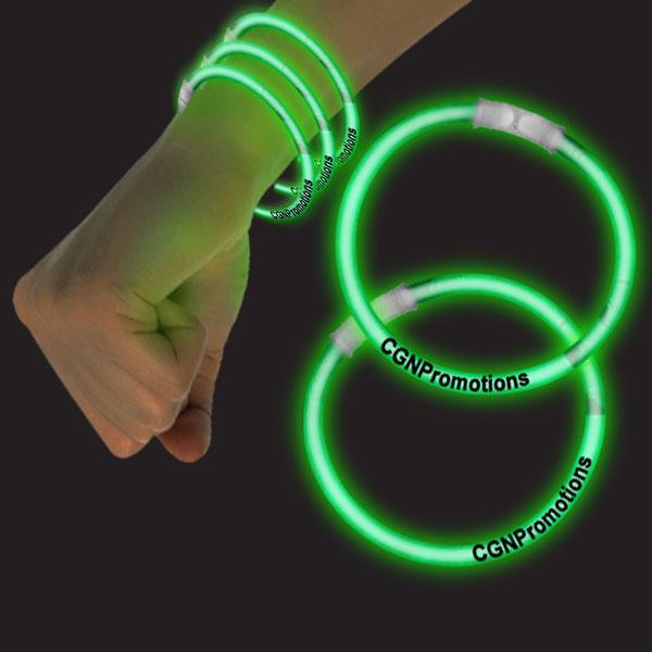 8 Inch Glow Bracelets - Green