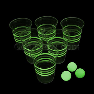Glow in the Dark Beer Pong Party Pack - 21st Birthday Getting Drunk