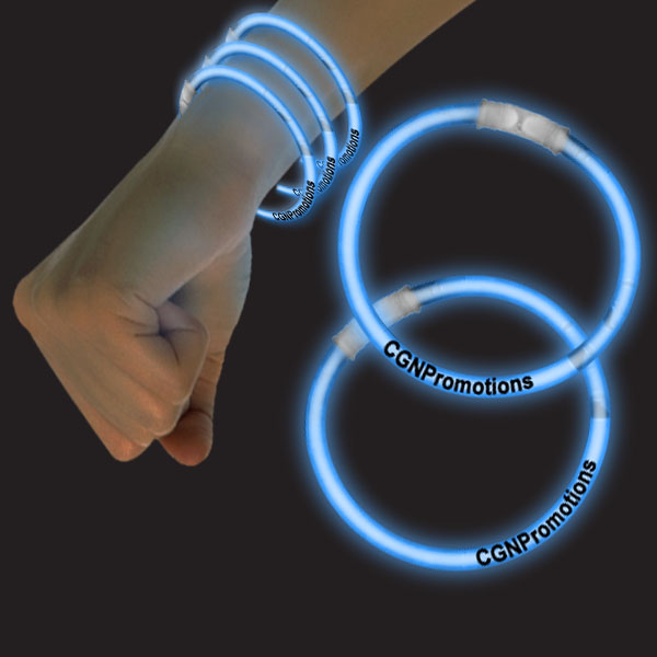 8 Inch Glow Bracelets - Blue