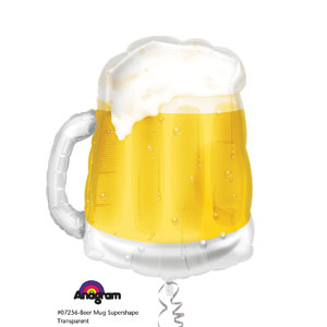 Beer Mug Shape Balloon- 23in - 21st Birthday Decorations