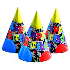 Birthday Balloons Party Cone Hat - 21st Birthday Party Stuff