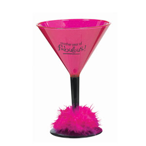 Birthday Fabulous Martini Glass- 12oz - 21st Birthday Novelty Gifts